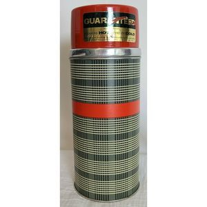 Aladdin Wide Mouth Red Plaid Metal Thermos 1 Qt